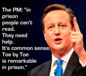 David Cameron praises Toe By Toe in prisons